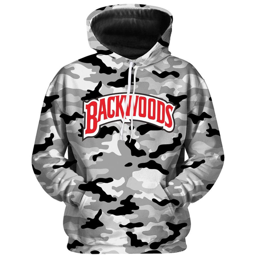2020 Backwoods Camouflage Honey  Hoodies Unisex Man Sweatshirt Funny Food Hoody Plus Size Long Sleeve Tracksuit