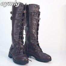 Женские сапоги до колена oymlg осенне зимняя обувь на плоской
