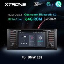 XTRONS Radio estéreo con GPS para coche, Radio con reproductor DVD, Qualcomm, Bluetooth 5,0, Android 10,0, PX6, para BMW E39, 2006 2012, M5