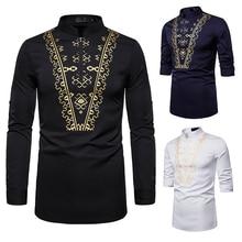 Men's Shirt Men's Fashion Casual Print Shirt African National Style Shirt Totem Shirt Court Shirt