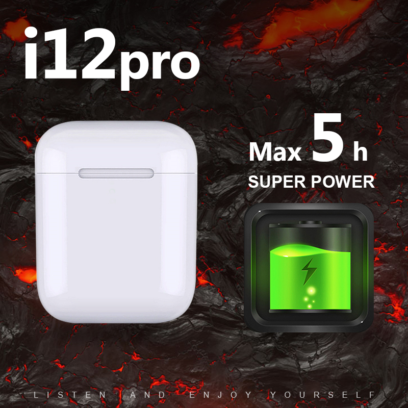 I12 Pro TWS 1:1 Replica Super Power 5 Hours Wireless Earphone 6D Super Bass Bluetooth 5.0 Pk W1 Chip I9s I10 I12 I13 I14 I18 Tws