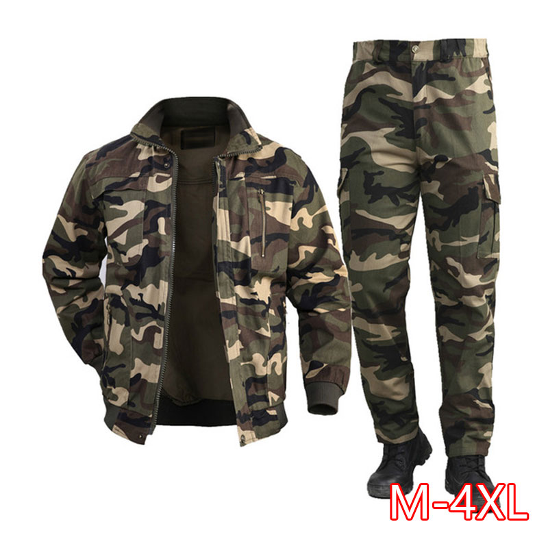 2020 Military Uniform Workwear Suit Male Wear Camouflage Clothing Men's Labor Site Tooling Us Tactical Military Uniform German