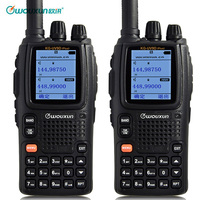 2PCS Wouxun KG UV9D Plus Walkie talkie Waterproof CB Radio Station Transceiver 7 bands Air Frequency 108 136/350 400MHz Scanner