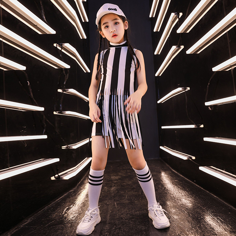 Girls Street Dance Tassel Performance Clothing Hip Hop Costume Jazz Clothes