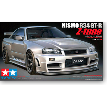 Tamiya 24282 1/24 Scale Nismo Nissan Skyline GT-R R34 Z-Tune Car Display Collectible Toy Plastic Assembly Building Model Kit