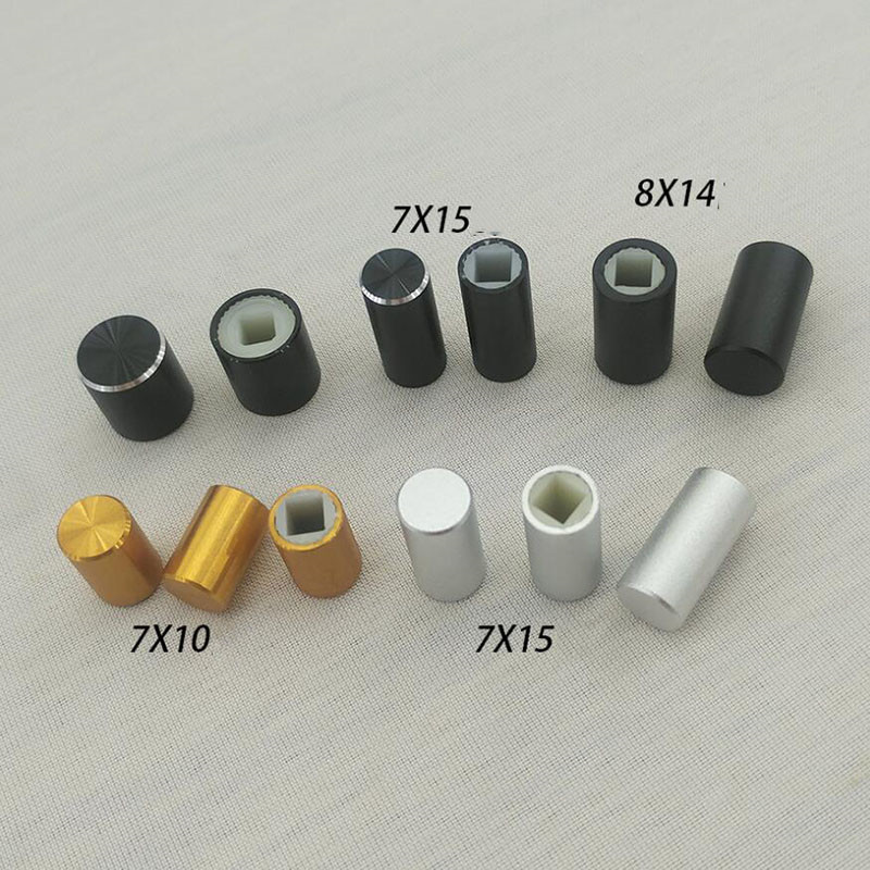 Outside Aluminum 3.2mm Square Hole Power Switch Button Cap X10