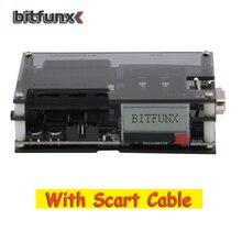 Bitfunx ossc hdmiコンバータキット透明な黒のためゲーム機の新アップデートキットとscartケーブル