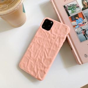 Image 3 - Iphone8case 용 소프트 폰 케이스 iphone 11Pro X 용 귀여운 실리콘 케이스 XR XS Max 7 6 iphone 11 케이스 용 커버 Pure color fold