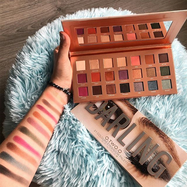 O.TWO.O Darling Eyeshadow Palletes 21 Colors Ultra Fine Powder Pigmented Shadows Glitter Shimmer Makeup Eye Shadow Palette 5
