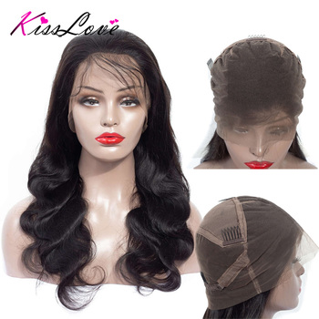 Body Wave Full Lace Human Hair Wigs for Black Women Brazilian Wigs Remy Hair Pre Plucked Bleached Knots Full End Kiss Love