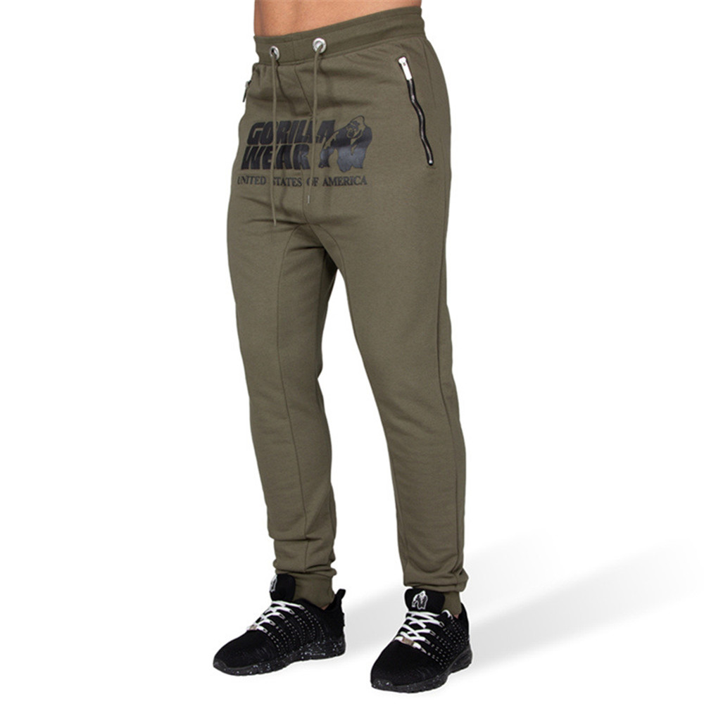 Army Green Casual Print Pants Men Joggers Slim Sweatpants Gyms Fitness Track Pants Male Bodybuilding Cotton Trousers Sportswear