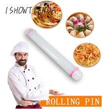 Não-vara fondant rolo de silicone pino de rolamento cozinhar cozimento pastelaria massa rolo pastelaria placas bolo cozinha ferramenta # y