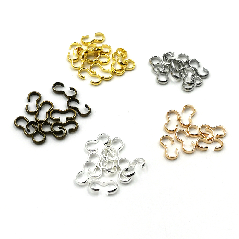 OZEN 100pcs/lot 4*8 mm Buckle Clasp Connectors Clasp Connectors For Jewelry Making Finding Bracelet Accessories Supplies