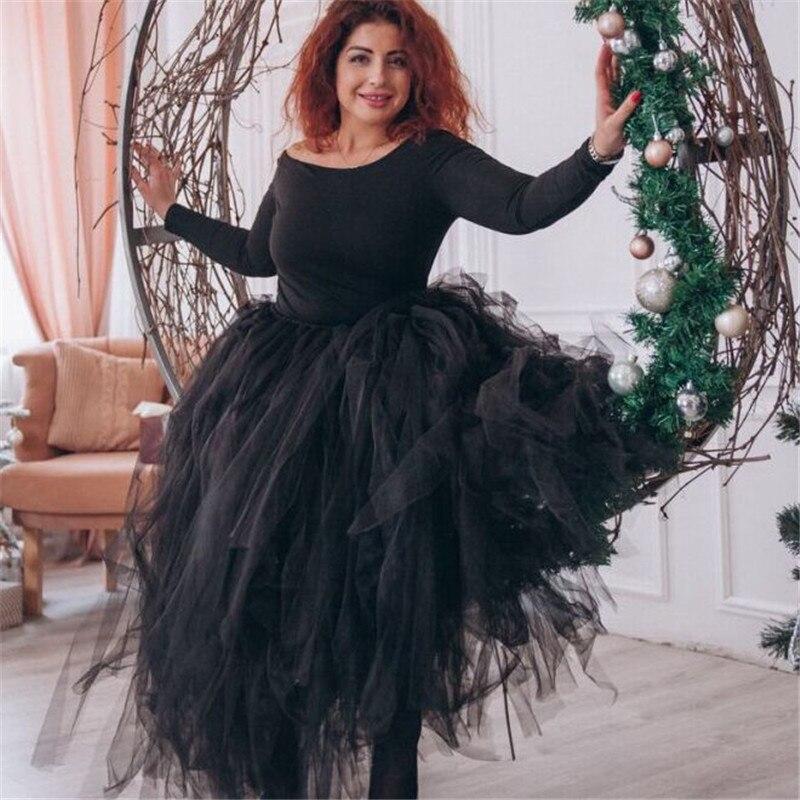 100cm Length Wedding DIY Skirt Tulle Overskirt Sexy Pleated Fashion Handmade Woman Tutu Female Long Skirt Lolita Saia Longa