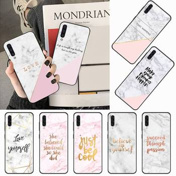Pink marble gold luxury Phone Case For Samsung galaxy S 7 8 9 10 20 edge A 6 10 20 30 50 51 70 note 10 plus image