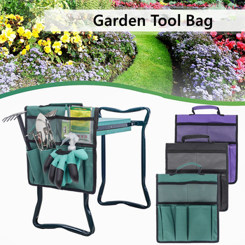 Foldable Oxford Garden Kneeler Seat Tool Bag Outdoor Work Cart for Knee Stool Gardening Tools Storage Pouch
