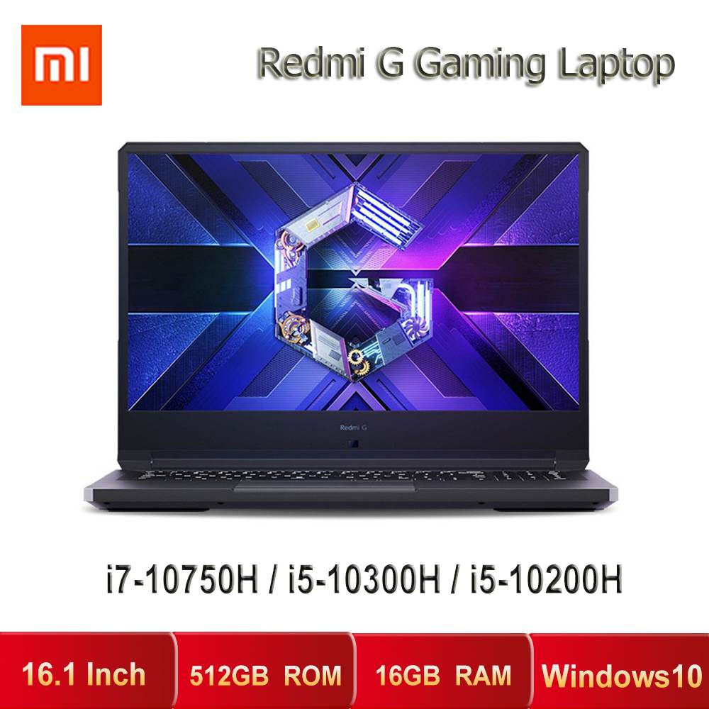 New Xiaomi Redmi G Gaming Laptops Intel Core i7 i5 Notebook GTX1650 TI 16 1 Inch Windows10 16GB DDR4 512GB SSD WiFi6 Computer PC