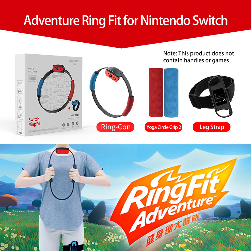 Nintend Switch Fitness Ring Somatosensory Ring-Con Anti-Slip Grips Adjustable Leg Strap Set For Ring Fit Adventure Sport Game(China)