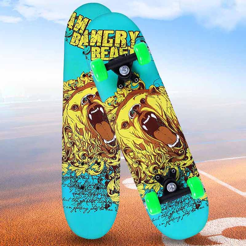 New Professional 60*15CM Kids Cartoon Skateboard Complete Deck Wood Deck Skate Board Outdoor Extreme Sports Long Board