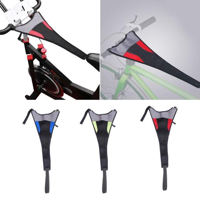 Indoor MTB Bike Trainer Frame Bicycle Sweat Cover Guard Net Catcher Absorbs Sweat Strap Protection Turbo Trainer Elastic Belt