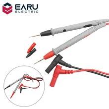 Pin de prueba de sonda Universal para multímetro Digital, 1 par, medidor de punta de aguja, multímetro, Cable de lápiz de sonda de plomo 20A