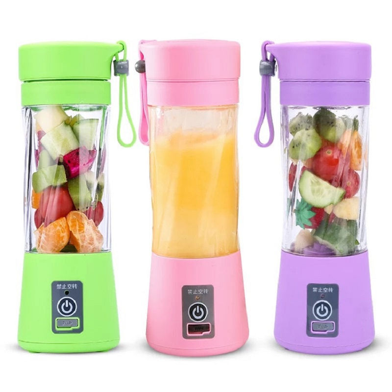0-6 Years 380Ml Portable Juice Blender USB Rechargeable Kids Multi-function Fruit Mixing Machine Smoothies Baby Food Drink Cup