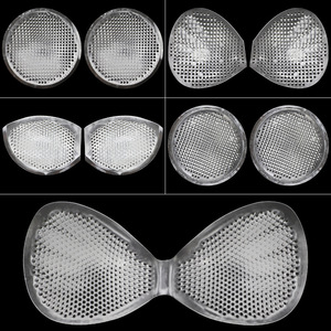Honeycomb Silicone Chest Pads Full Transparent Breathable Soft Thicken Underwear Invisible Lift Breast Swimsuit Push Up Paste(China)