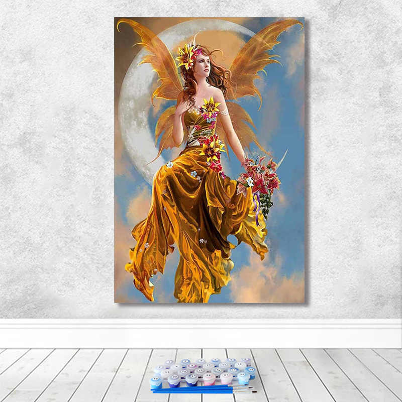 Картина по номерам художественная краска по номерам фантазия Красивая Мудрая Луна богиня домашний коридор декоративная живопись