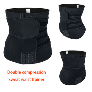 Image 5 - Mulheres cintura trainer cinto duplo sauna workout neoprene cintura cincher abdominal trimmer cinto ganchos de perda de peso correias mais tamanho