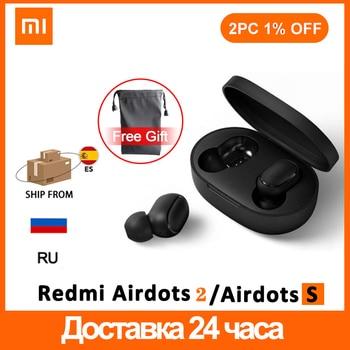 Global xiaomi Airdots 2 tws Redmi Airdots TWS Wireless earphone Voice control Bluetooth 5.0 Noise reduction Tap Control