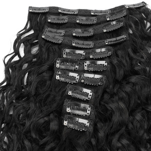 Veravicky натуральные вьющиеся 140 г волосы для наращивания на клипсах, волосы Remy, человеческие волосы, полный набор головок, зажим ins