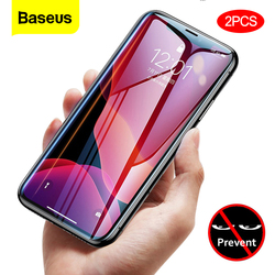 Baseus 0.23mm Screen Protector For iPhone 11 Pro Max Privacy Protection Full Cover Tempered Glass Film For iPhone Xs Max Xr X