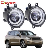 Cawanerl For Toyota RAV4 2006 2012 Car LED Fog Light Angel Eye Daytime Running Light DRL White 30W 3000LM White 12V 2 Pieces