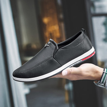 Autumn Fashion Casual Shoes Men 2019 Leather England Sneakers Male Light Wedding Dress Business Shoes Men Slip-on Flats Loafers new summer genuine leather slip on shoes men casual breathable mesh shoes men loafers mens sneakers casual loafers men footwear