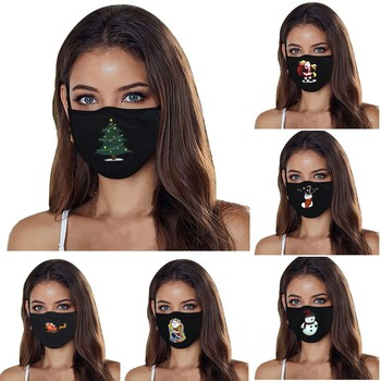 led mask cosplay custom mask mascarillas masque маска для лица Adult Fashion Christmas Printed Casual Outdoor Washable Mask image