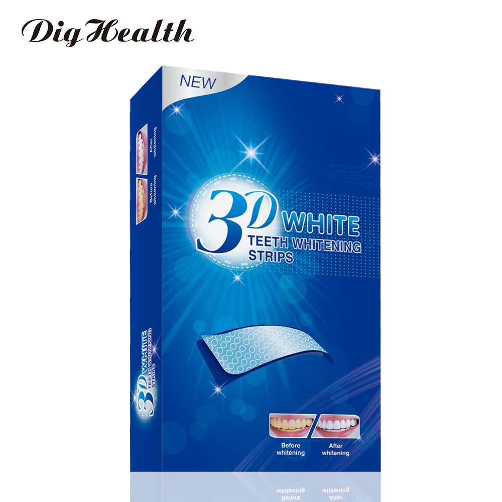 Dighealth 7/14 Pairs Gel Teeth Whitening Strips Stain Removal Oral Hygiene Care Strip Dental Bleaching Tools Teeth Whitening
