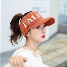 Новая мода 2020 осень зима солнцезащитный козырек шапка женская