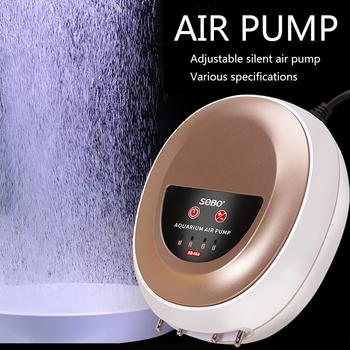 Nowy SOBO akwarium pompa tlenu wyciszenie pompa tlenu mała pompa powietrza podwójna głowica cztery głowy regulowane tanie i dobre opinie CN (pochodzenie) 220-240 v SB-608 618 628 638 668 688 Z tworzywa sztucznego
