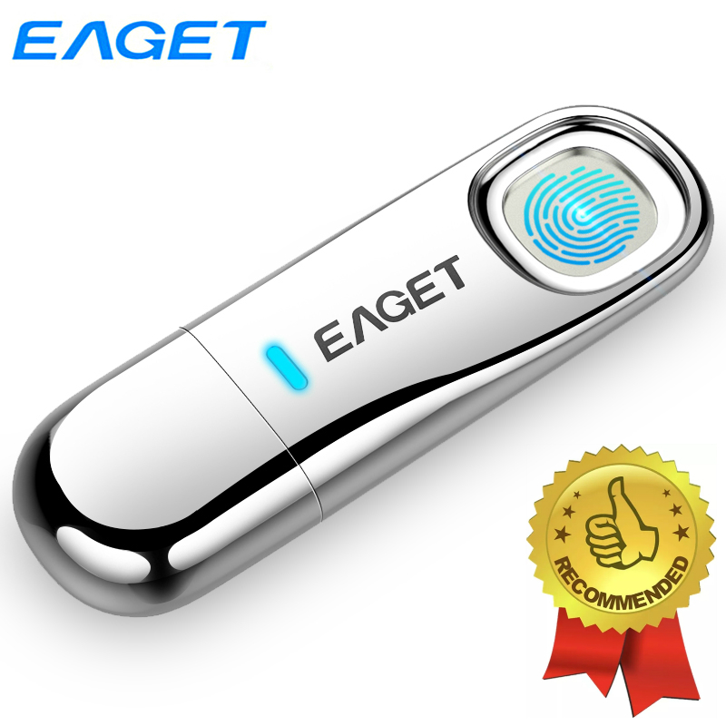 Eaget Fingerprint Recognition USB 3 0 Flash Drive 128GB Pendrive 64GB Privacy Encrypted Pen Drive 32GB Top Security USB Drive