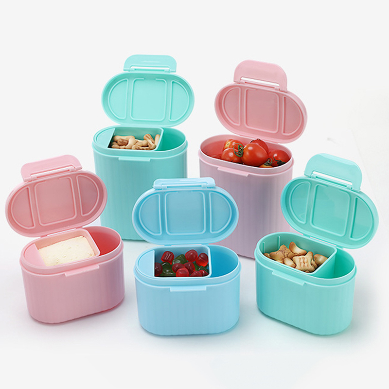 Baby Food Storage  Baby Milk powder Storage Formula Dispenser Travel Canisters Container Food Tank PP Plastic Single Layer