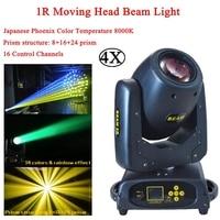 4Pcs/Lot 1R Moving Head Beam Lyre DMX Stage Light 8+16+24 Prism Beam 5R 2R Professional Dj Lights For Club KTV Party Mobile