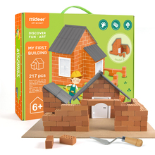 Simulation House Brick Building Model Diy Craft Kits Toys for Child Building Chalet Creative Assembled Kids Crafts and Arts