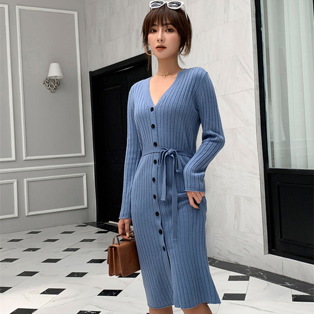 adohon 2019 woman winter 100% Cashmere sweaters and autumn knitted Cardigans High Quality Warm thickening V neck