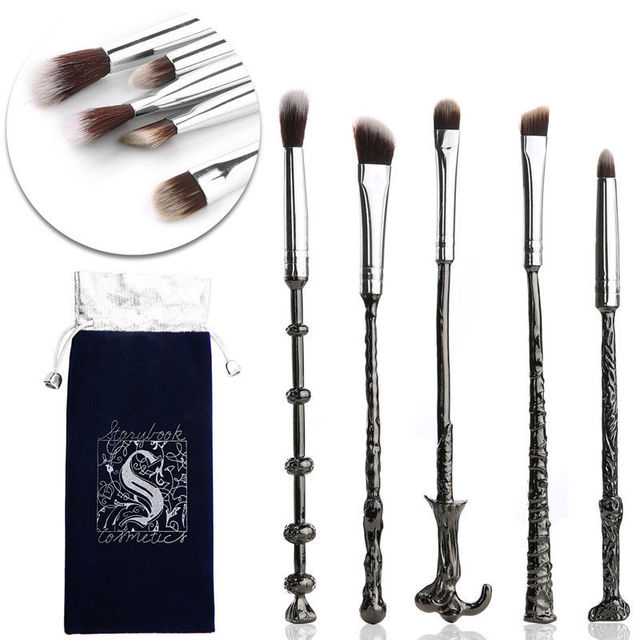 5 Pcs/ Set Makeup Brush Set Wand Eye Shadow Brush Beauty Cosmetics Brush Tool Makeup Set Magical Beauty 3