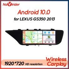 12นิ้ว Android 10รถวิทยุสำหรับ Lexus Gs350 GS200t GS250 GS450 GS 2016มัลติมีเดีย GPS Navigation BT หัวหน่วย autoradio 2 Din