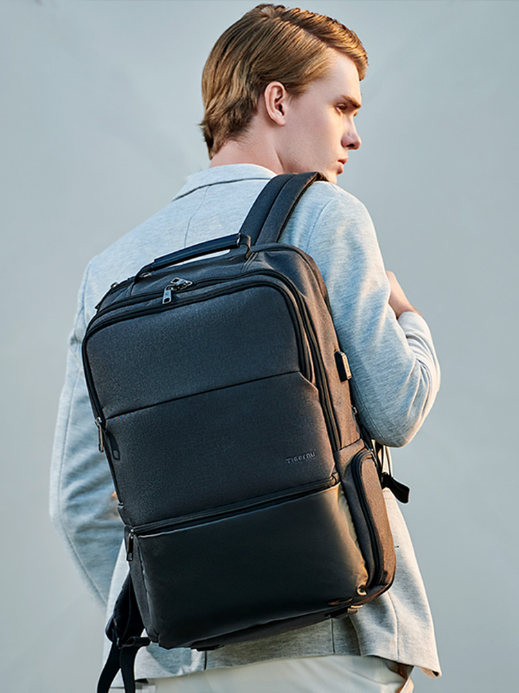Tigernu Expandable Backpack Laptop/computer-Backpacks Large-Capacity Fashion for Male