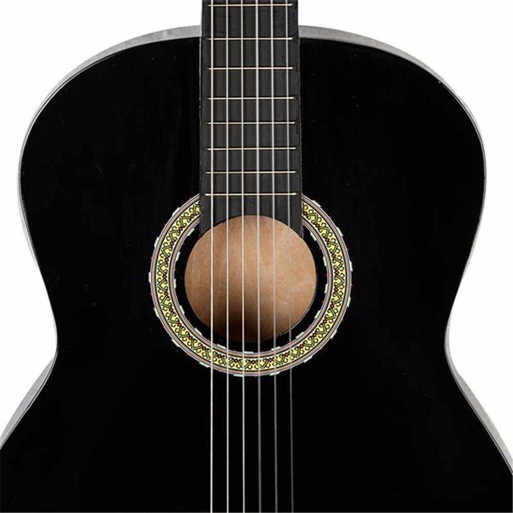 الأسهم الأمريكي 38 بوصة الغيتار الغيتار الصوتية الشعبية الغيتار للمبتدئين 6 سلاسل الزيزفون مع مجموعات أسود أبيض الخشب الأحمر الغيتار