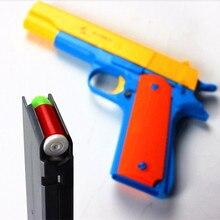 1 шт. классический M1911 игрушечный пистолет детская игрушечная пушка мягкая пуля пистолет пластиковый револьвер Детская уличная забавная игра игрушка Стрелялка