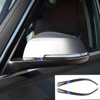 Lusterko wsteczne z włókna węglowego Anti Scratches Strip naklejki samochodowe akcesoria do BMW New 3 Series F30 2013 2018 F34 2013 2017 w Naklejki samochodowe od Samochody i motocykle na