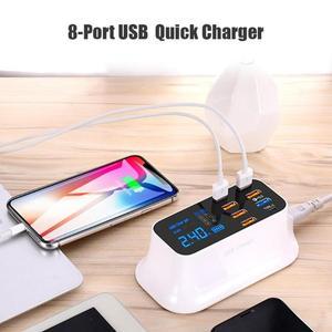 Image 4 - 8 יציאות Led תצוגת USB מטען עבור אנדרואיד iPhone מתאם טלפון Tablet מטען מהיר עבור xiaomi huawei samsung
